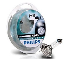 Philips H4 12V 60/55W 12342 X-tremeVision +100% комплект 2 шт