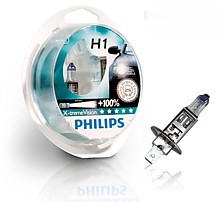 Philips H1 12V 55W 12258 X-tremeVision +100% комплект 2 шт